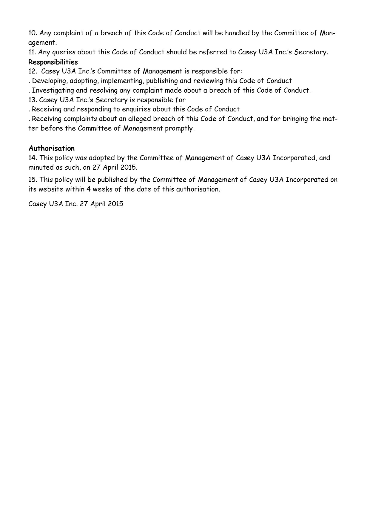 Code of Conduct Policy pg2