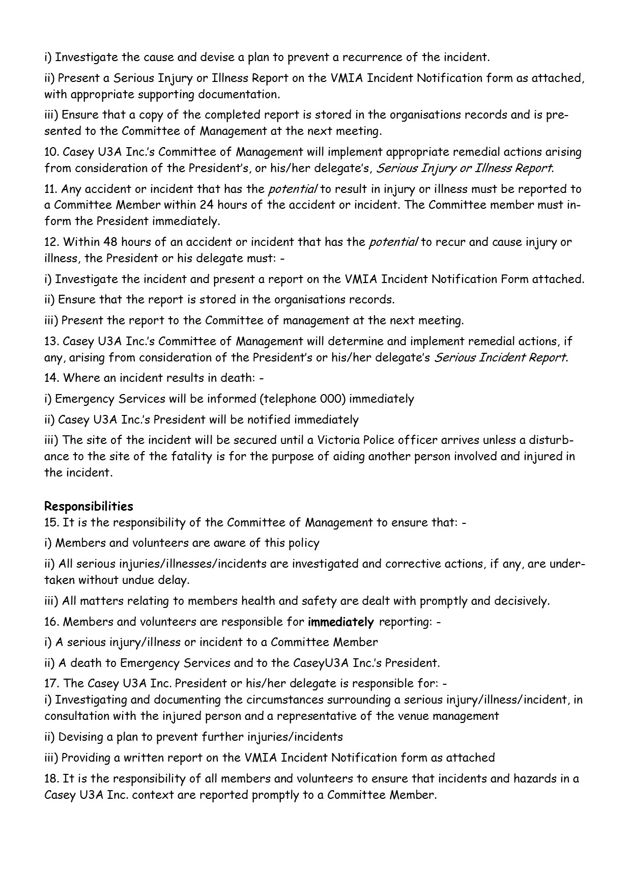 Health and Safety Policy  pg2