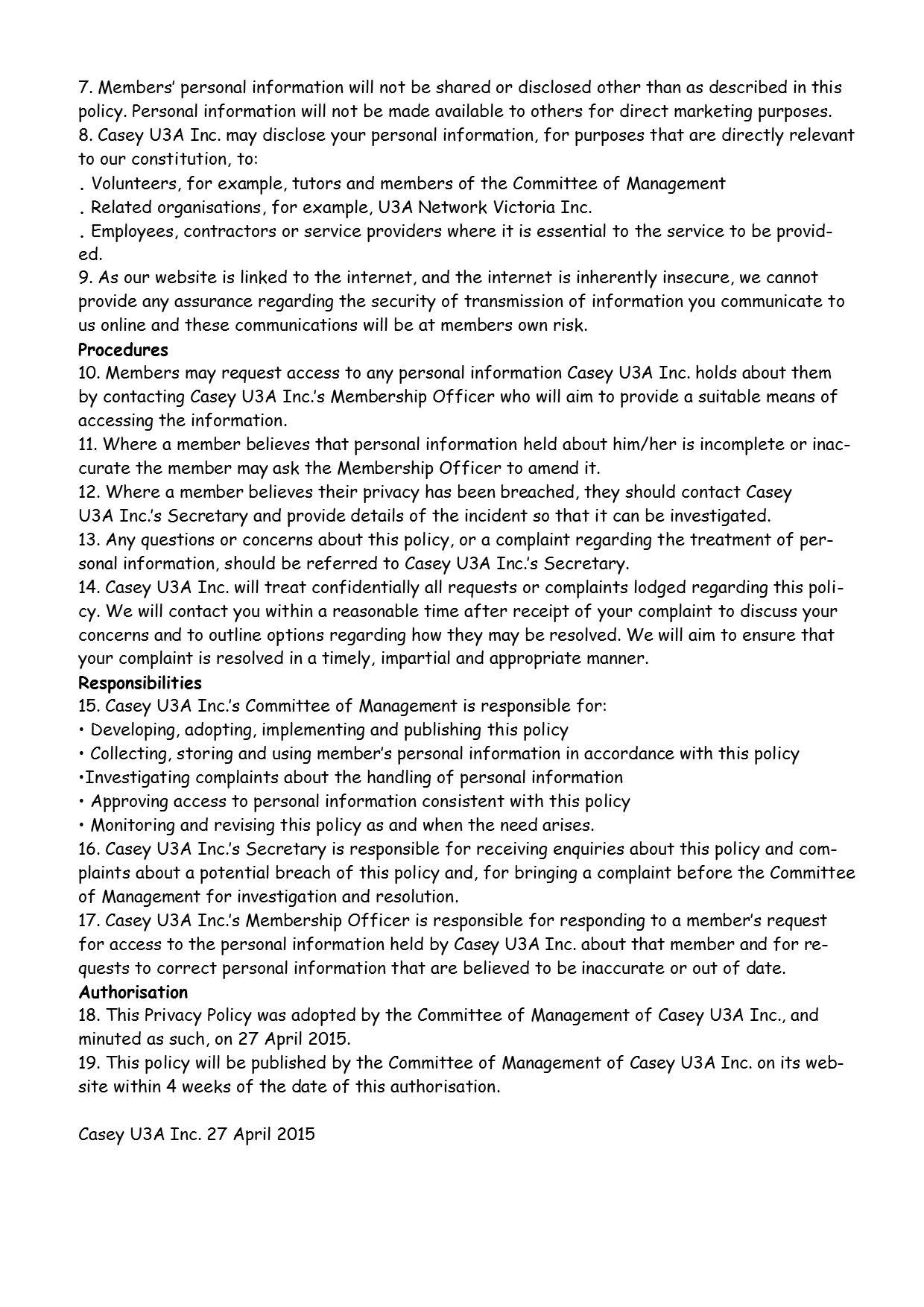 Privacy Policy PG2