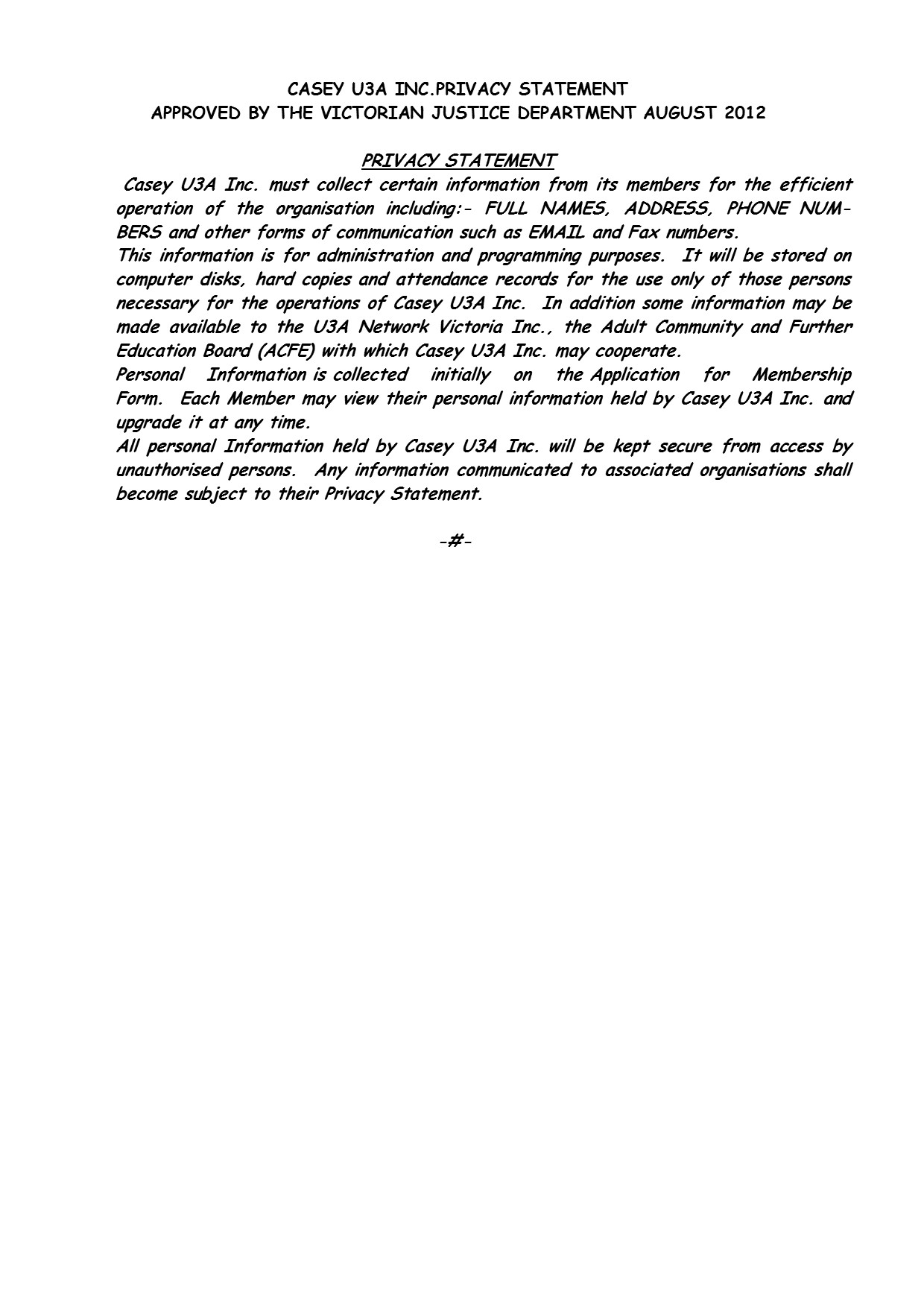 Privacy Policy PG3