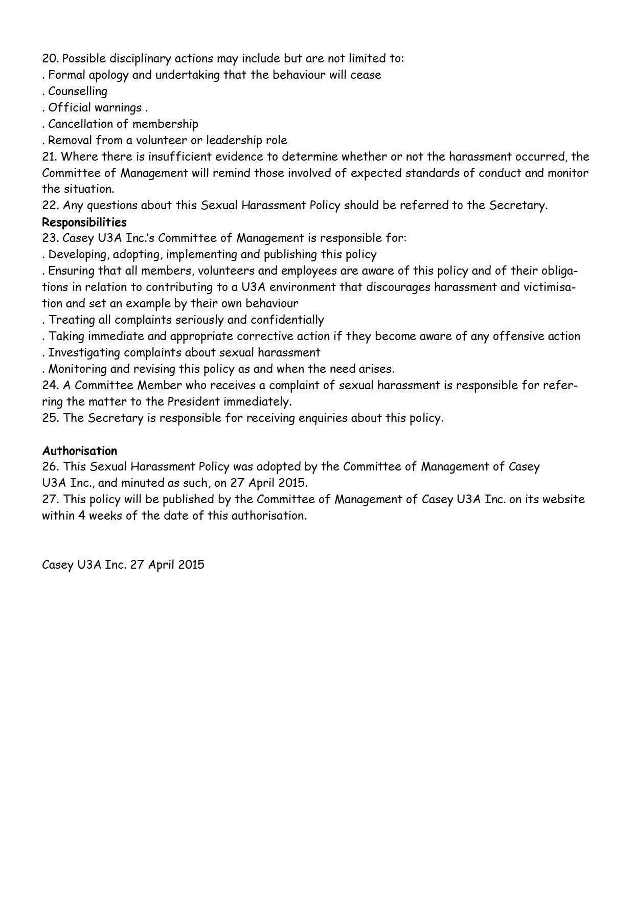 Sexual Harassment Policy pg3