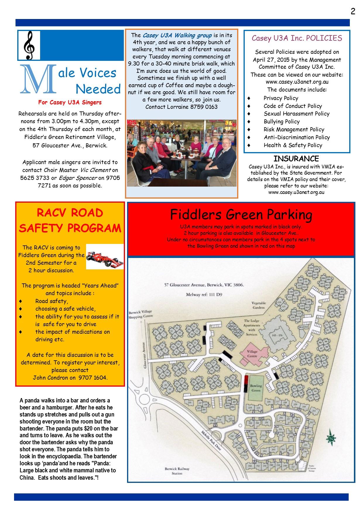U3A Newsletter June 2015 pg 2